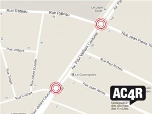 Localisation des 2 derniers accidents