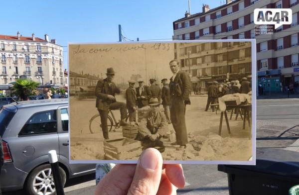 Jour de marché aux 4 Routes à La Courneuve en 1933 – extrait de l'expo SuperPoses de l'AC4R