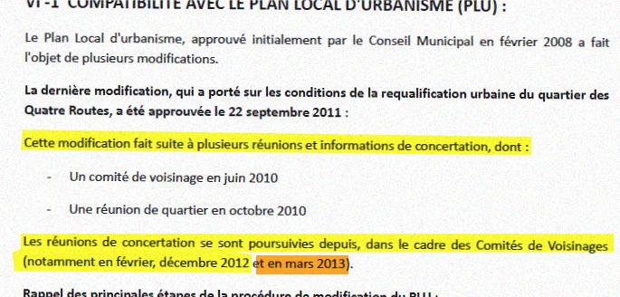 Extrait de la page 19 du Dossier d'enquête préalable à la déclaration d'utilité publique
