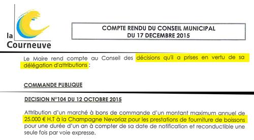 Extrait du compte rendu du Conseil Municipal du 17 décembre 2015